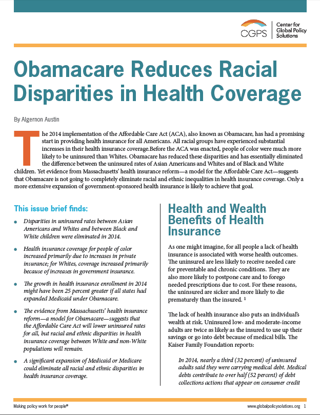 health care disparities essay Disparities clearly exist in the health care of racial and ethnic minorities this position paper of the american college of physicians (acp) provides ample evidence.